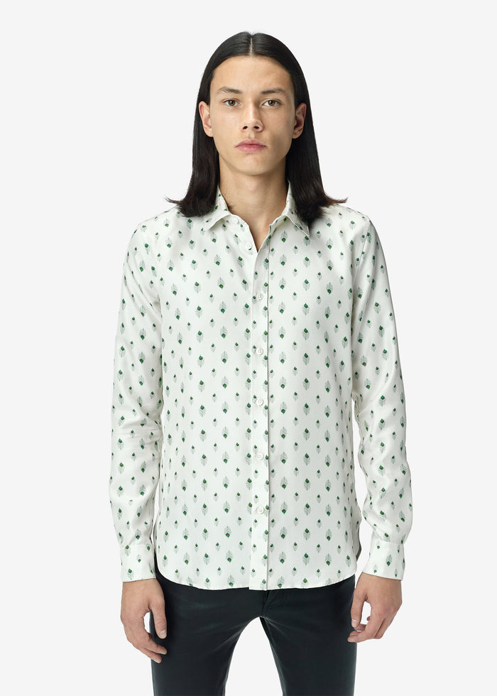 Peacock Long Sleeve Shirt Web Exclusive - Ivory / Green