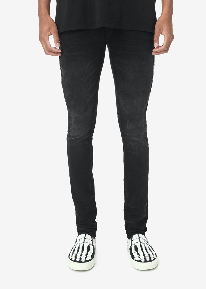 Half Track Denim - Aged Black
