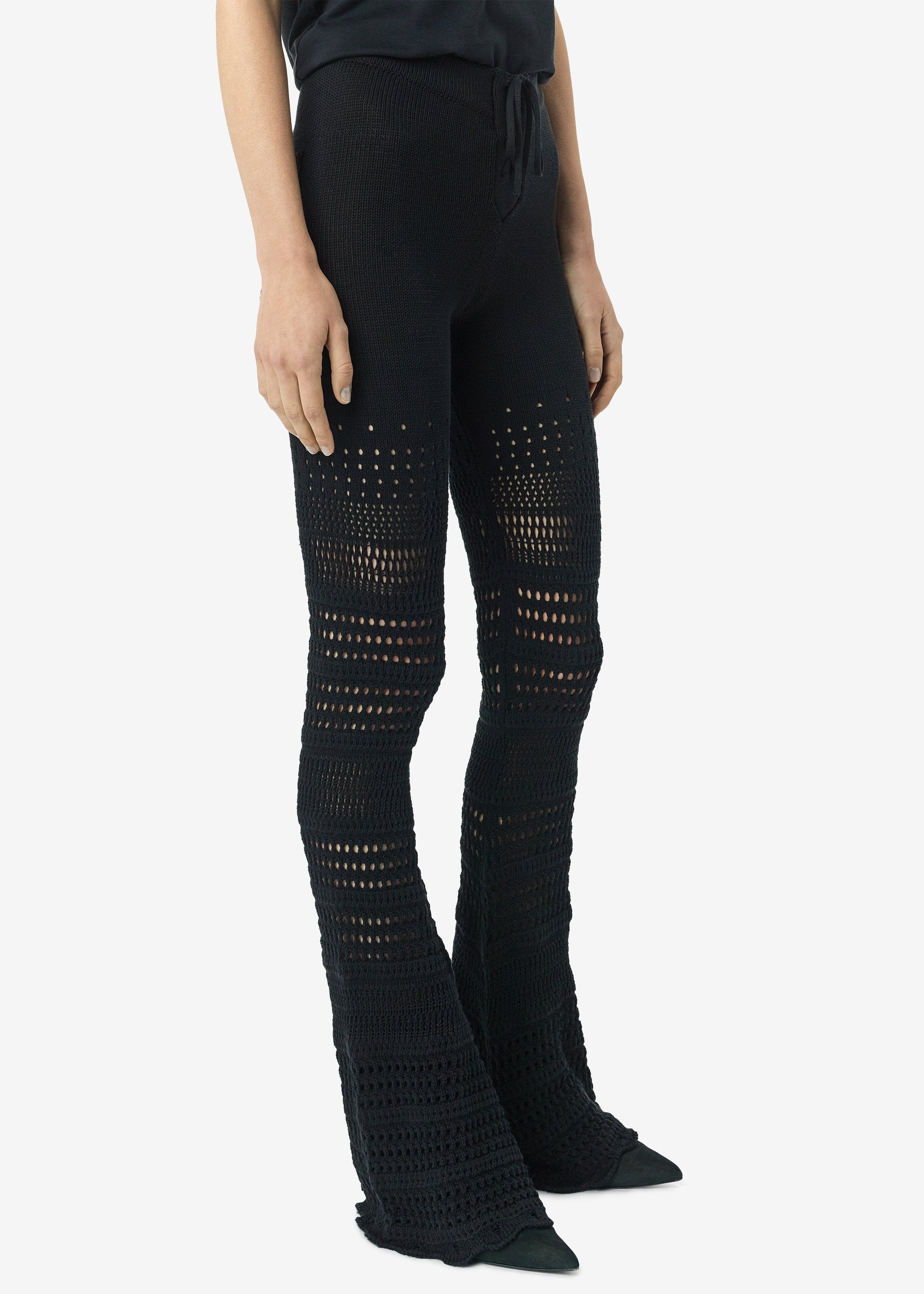 checkered-crochet-flare-pants-black-image-2