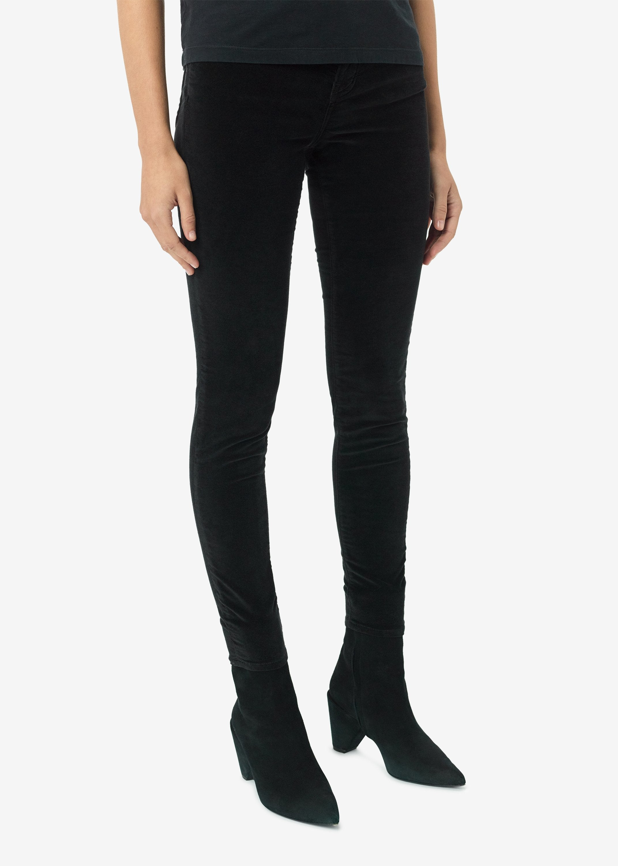 velour-skinny-stack-pants-black-image-2
