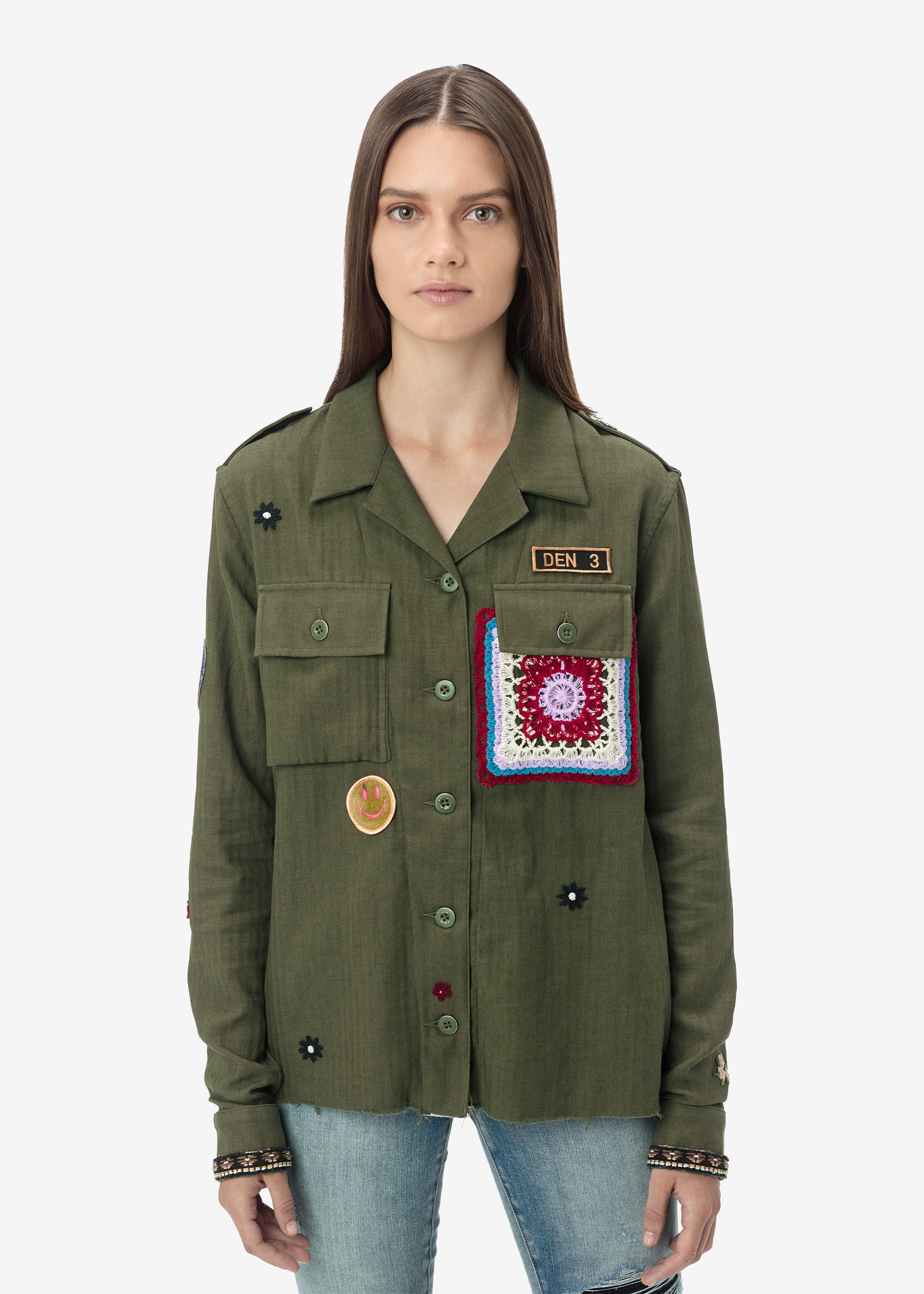 crochet-patch-military-shirt-military-green-image-1