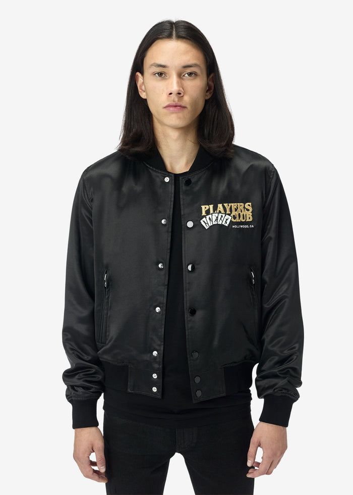 Players Club Bomber - Black