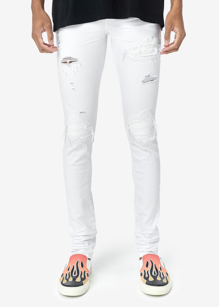MX1 Leather Patch Jean Web Exclusive - White