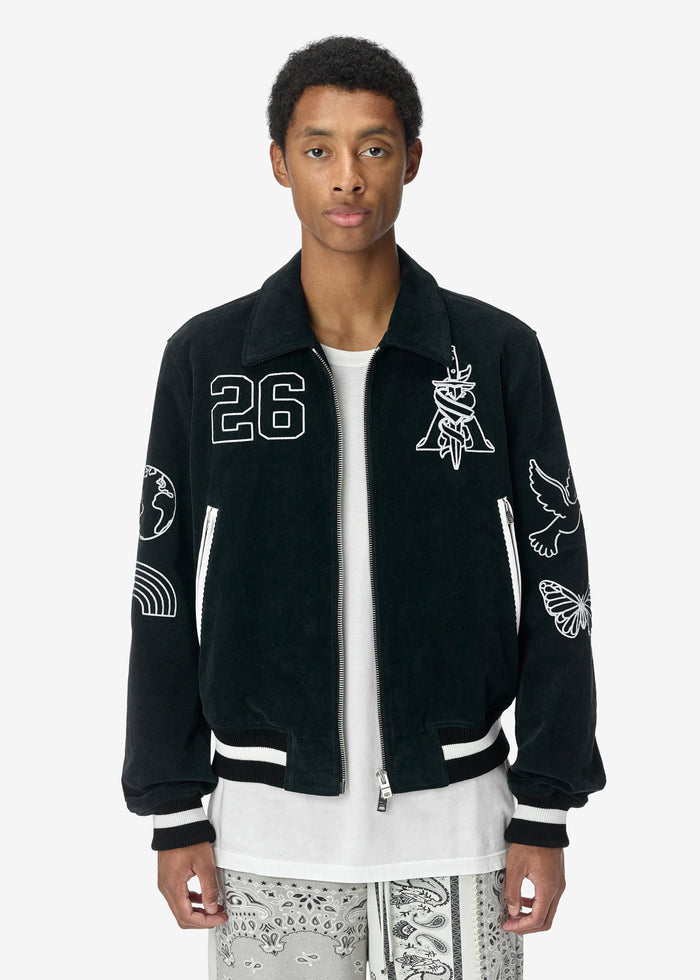 Brothers Varsity Jacket - Black