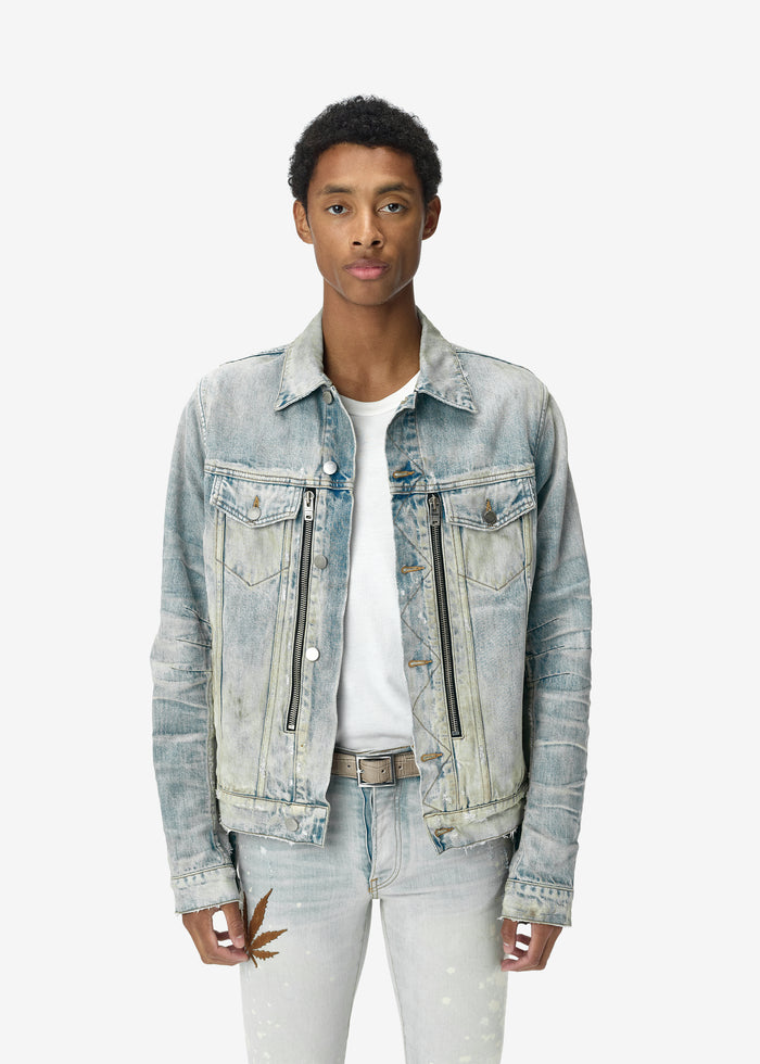 MX2 Denim Trucker Jacket - Bone Indigo