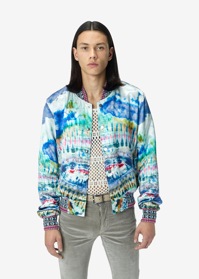 Tie Dye Bomber - Multi-Color