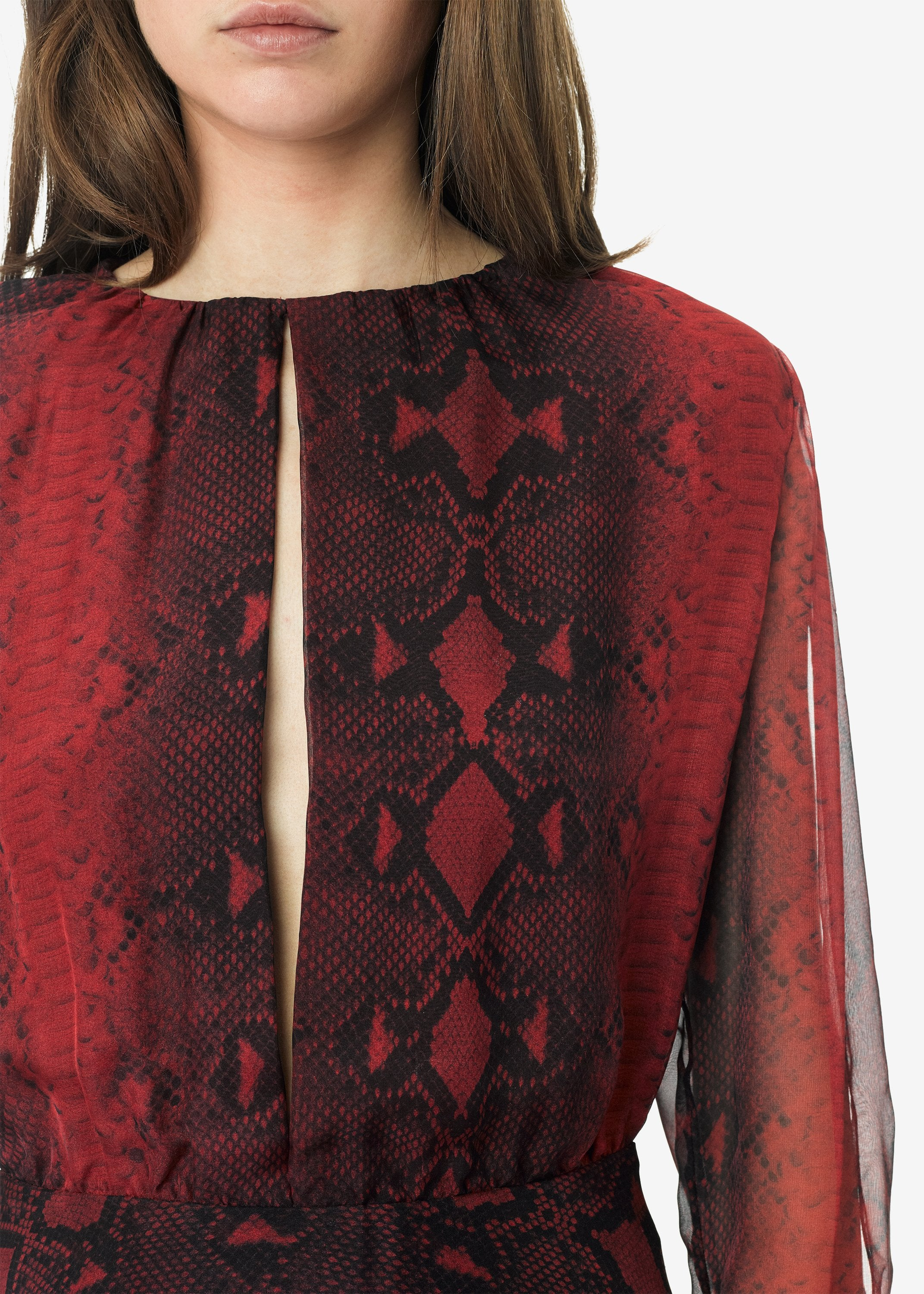 printed-python-assymetric-long-sleeve-dress-burgundy-image-2