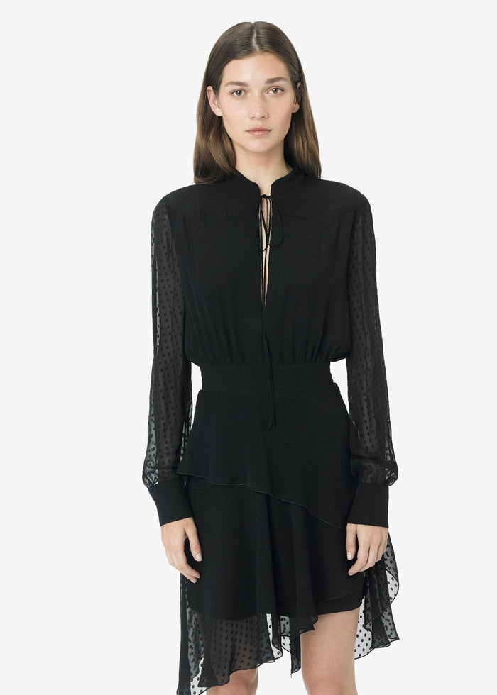 Western Long Sleeve Dress - Black