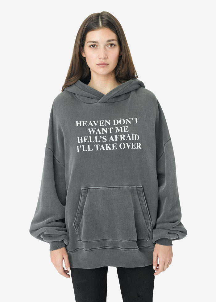 Heaven and Hell Hoodie - Vintage Black