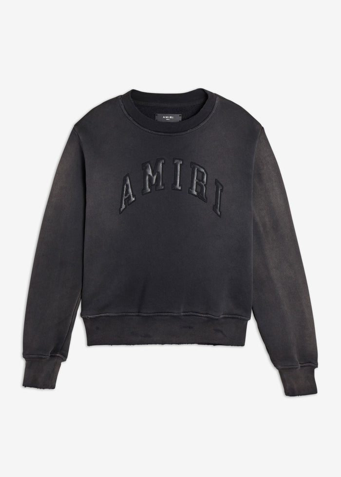 College AMIRI Tonal Crew - Washed Black