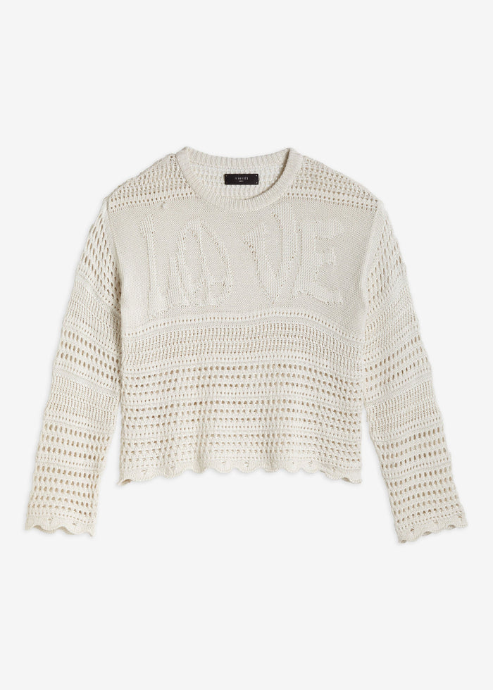 LOVE Crochet Sweater - Ivory
