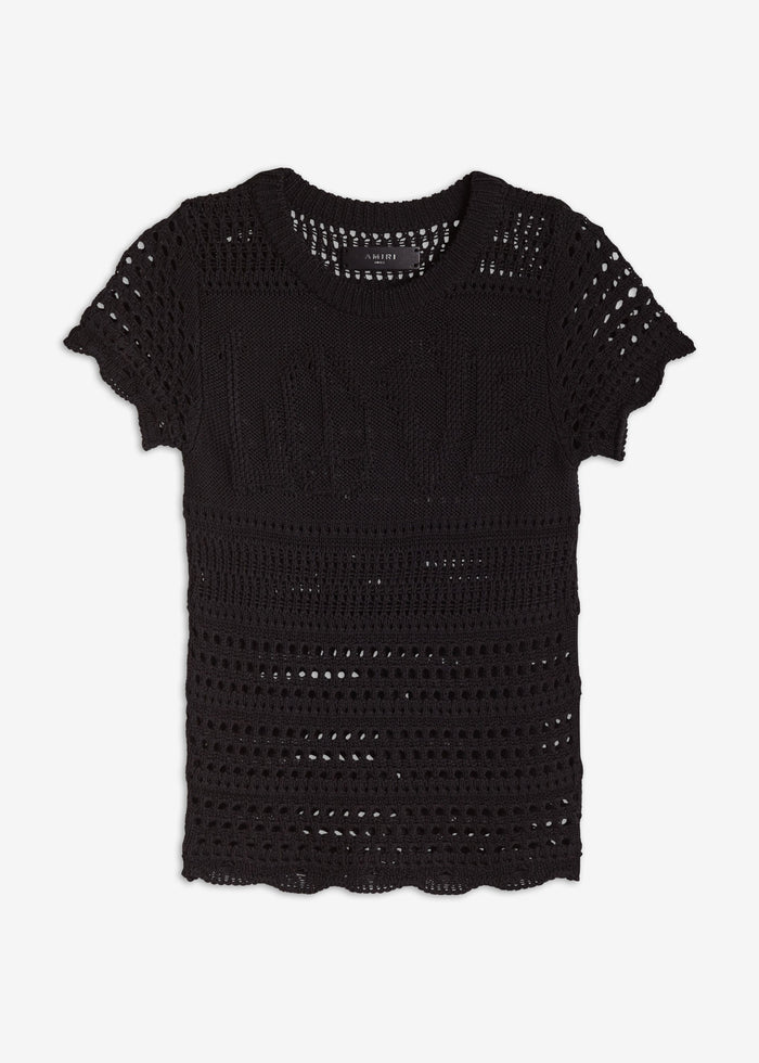 LOVE Crochet Tee - Black