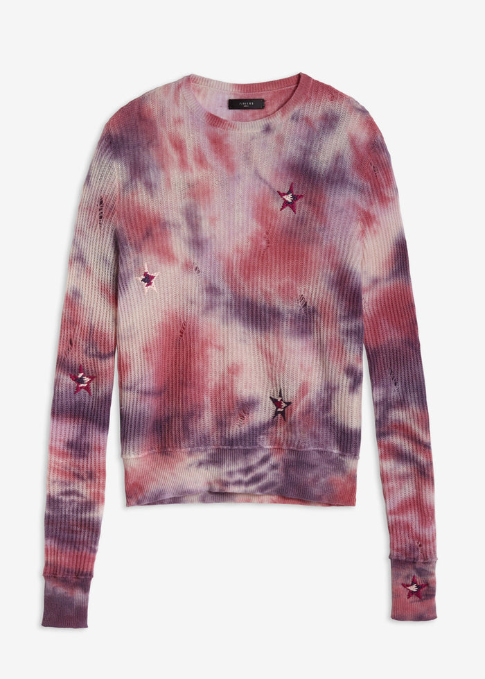 Tie Dye Stars Sweater - Multi-Color