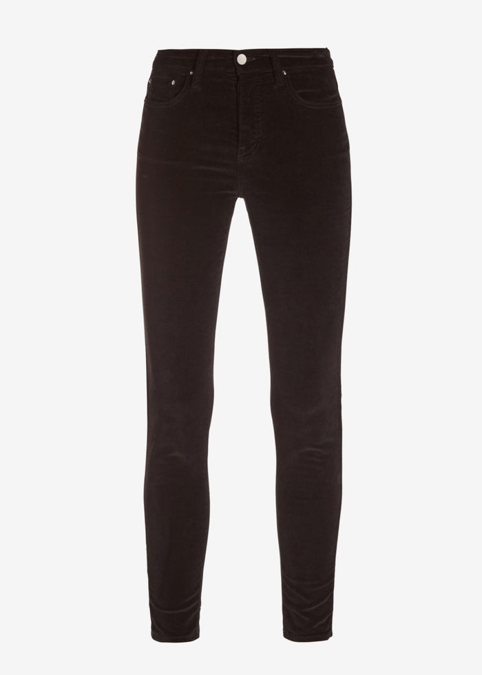 Velour Skinny Stack Pants - Black