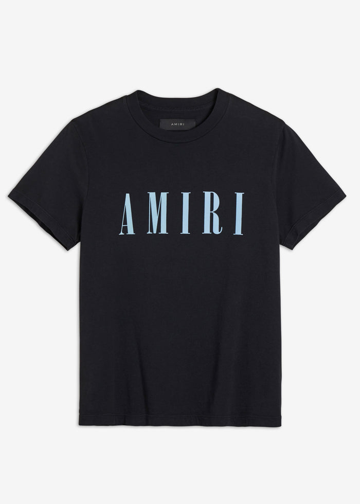 AMIRI Core Tee - Black / Light Blue