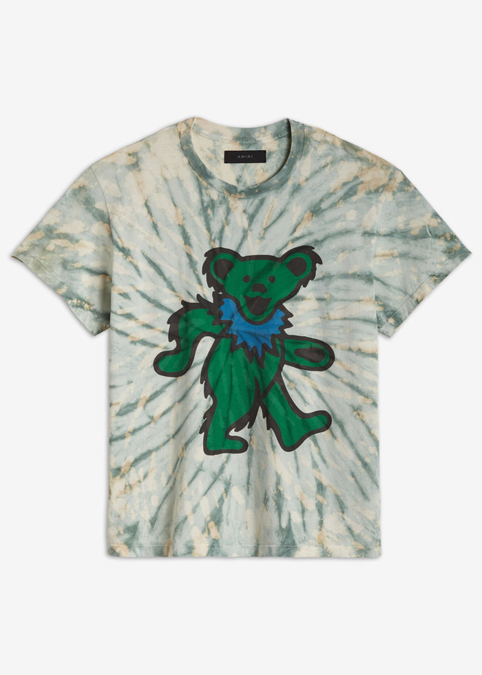 Grateful Dead Tie Dye Tee - Pale Lime