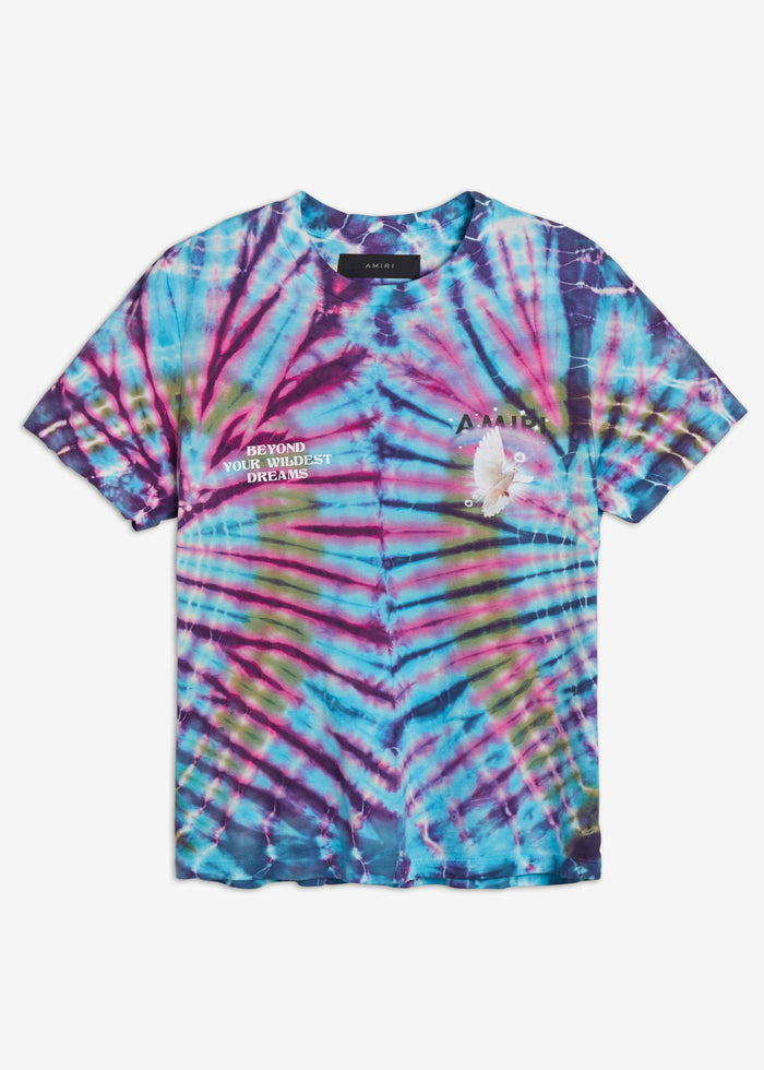 Tie Dye Rainbow Dove Tee - Multi-Color