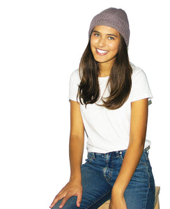 Aries Beanie - Heather Lilac