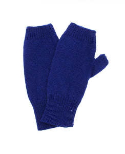 100% Cashmere Fingerless Gloves - Dark Navy