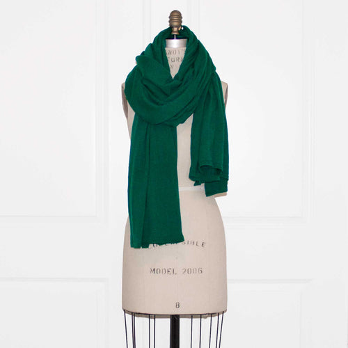 100% Cashmere Essential Wrap - Emerald