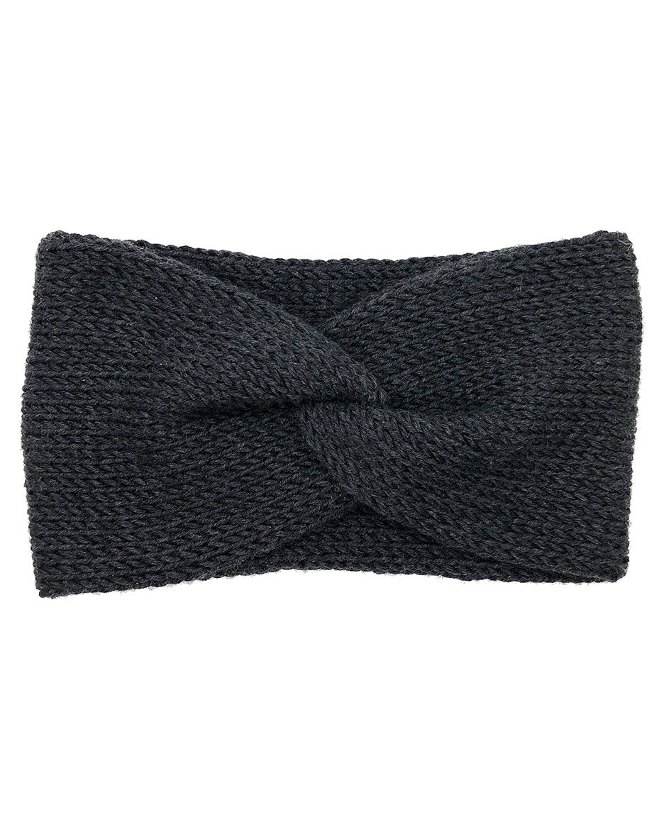 100% Merino Lush Double Layer Knotted Headband - Charcoal