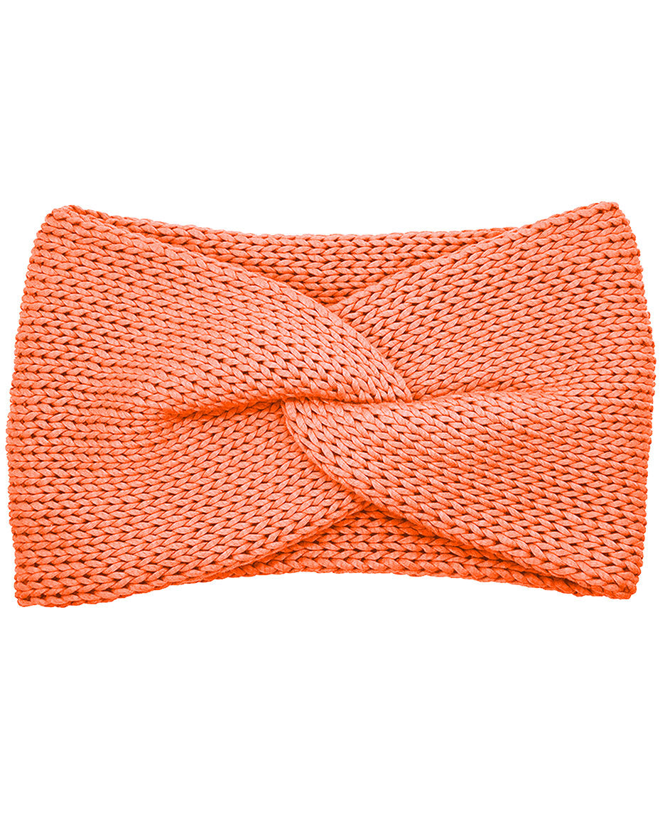 Cotton Blend Lush Double Layer Knotted Headband - Sherbet