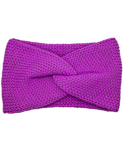 Cotton Blend Lush Double Layer Knotted Headband - Fuchsia