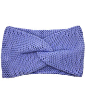 Load image into Gallery viewer, Cotton Blend Lush Double Layer Knotted Headband - Periwinkle