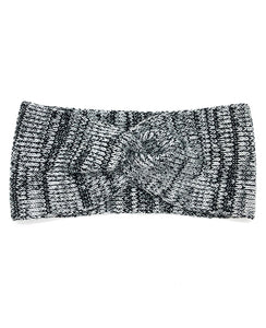 100% Merino Wool Knotted Headband - Machine Washable - BW Marl