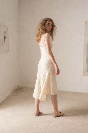 Rosario Midi Party Dress, Ivory