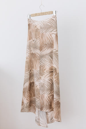 Habana Printed Silk Skirt