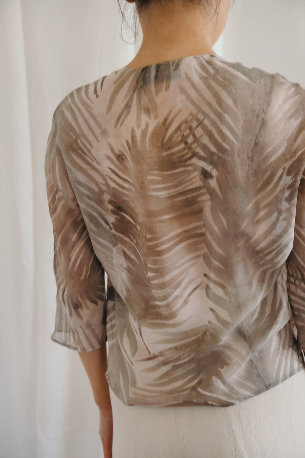 Habana Printed Silk Top
