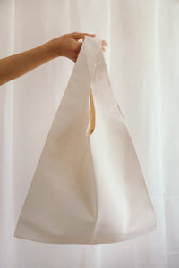 Canvas Ivory Shopper Bag