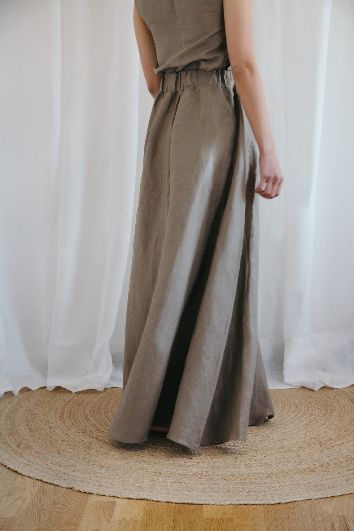 Pirandello Long Mocha Skirt