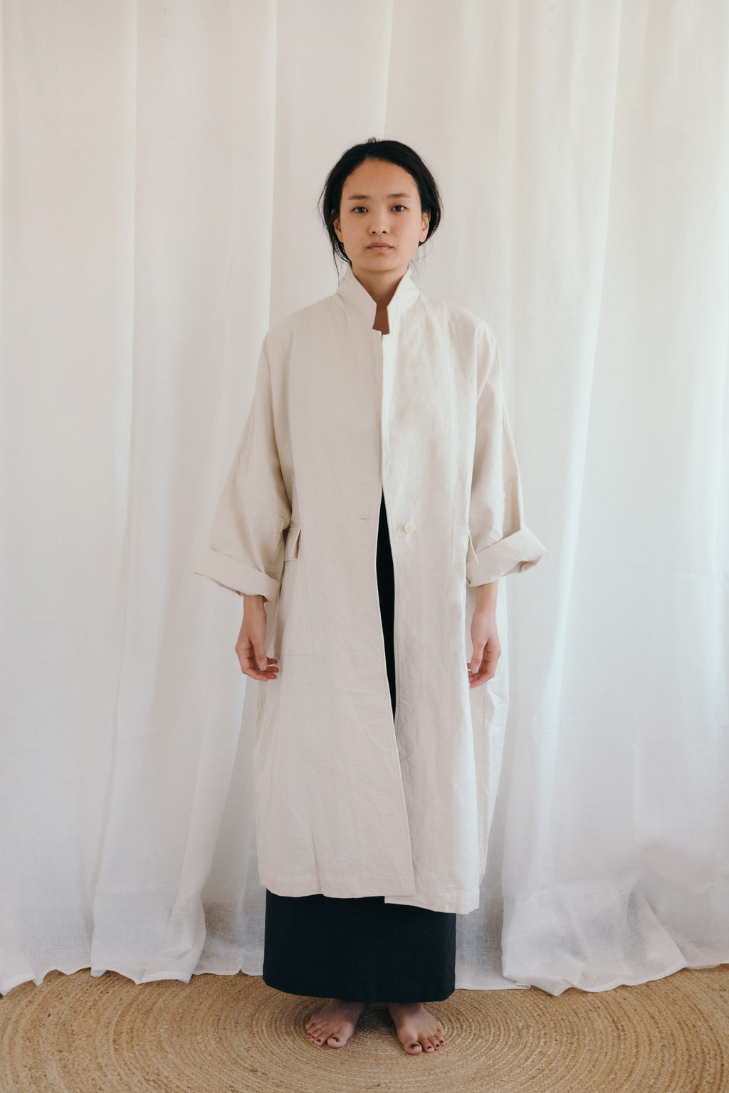 undyed canvas oversized duster