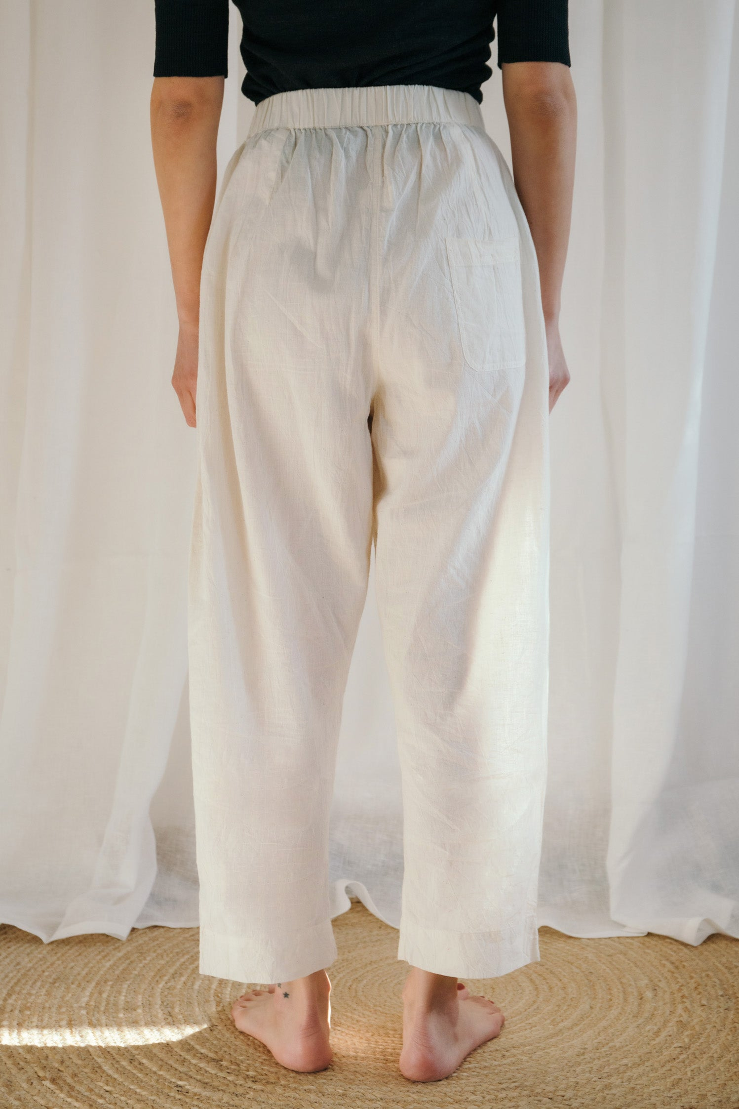 Unbleached Cotton Pyjama Trousers