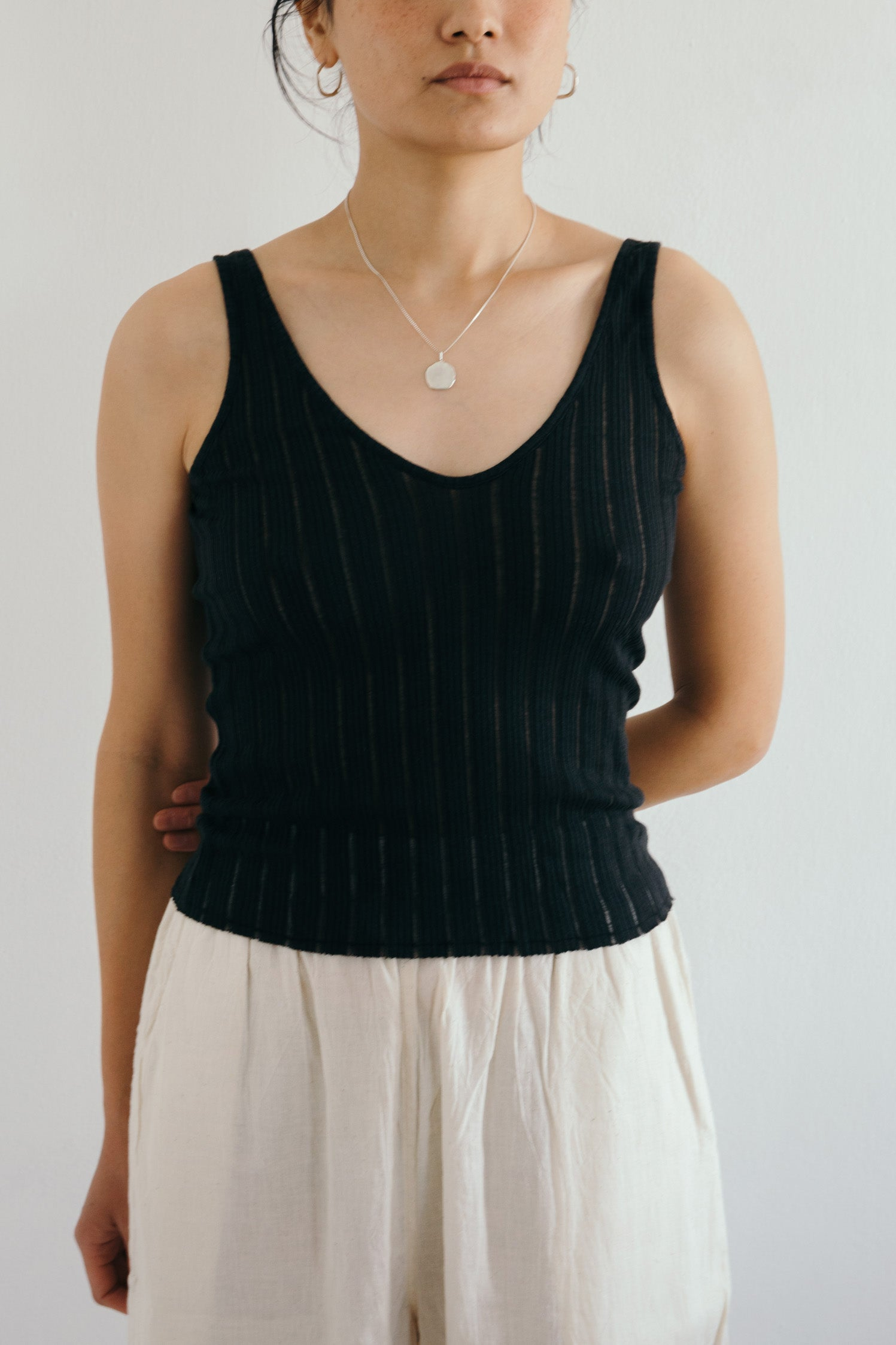 V-Neck Tank in Black