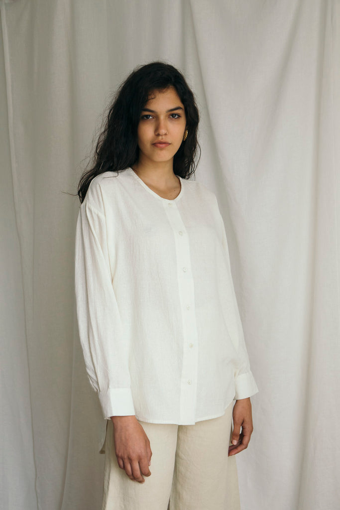 Fine Raw Silk Shirt