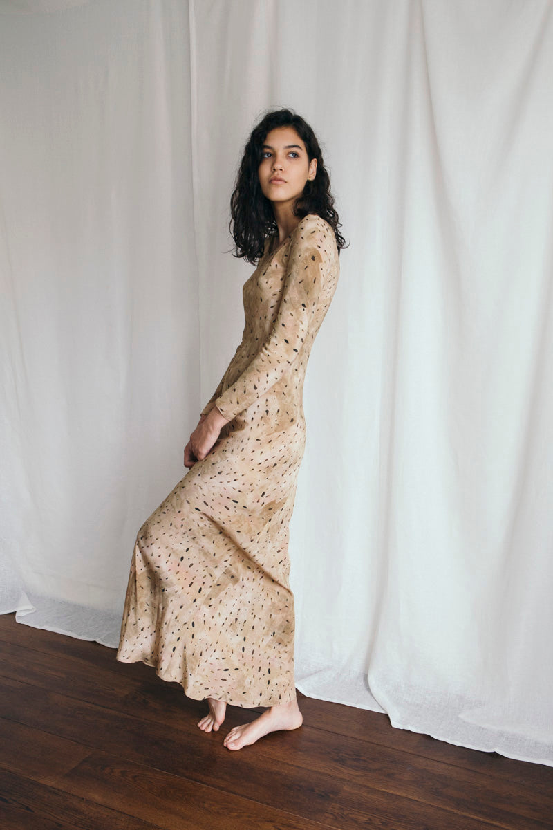 Siam Printed Silk Dress