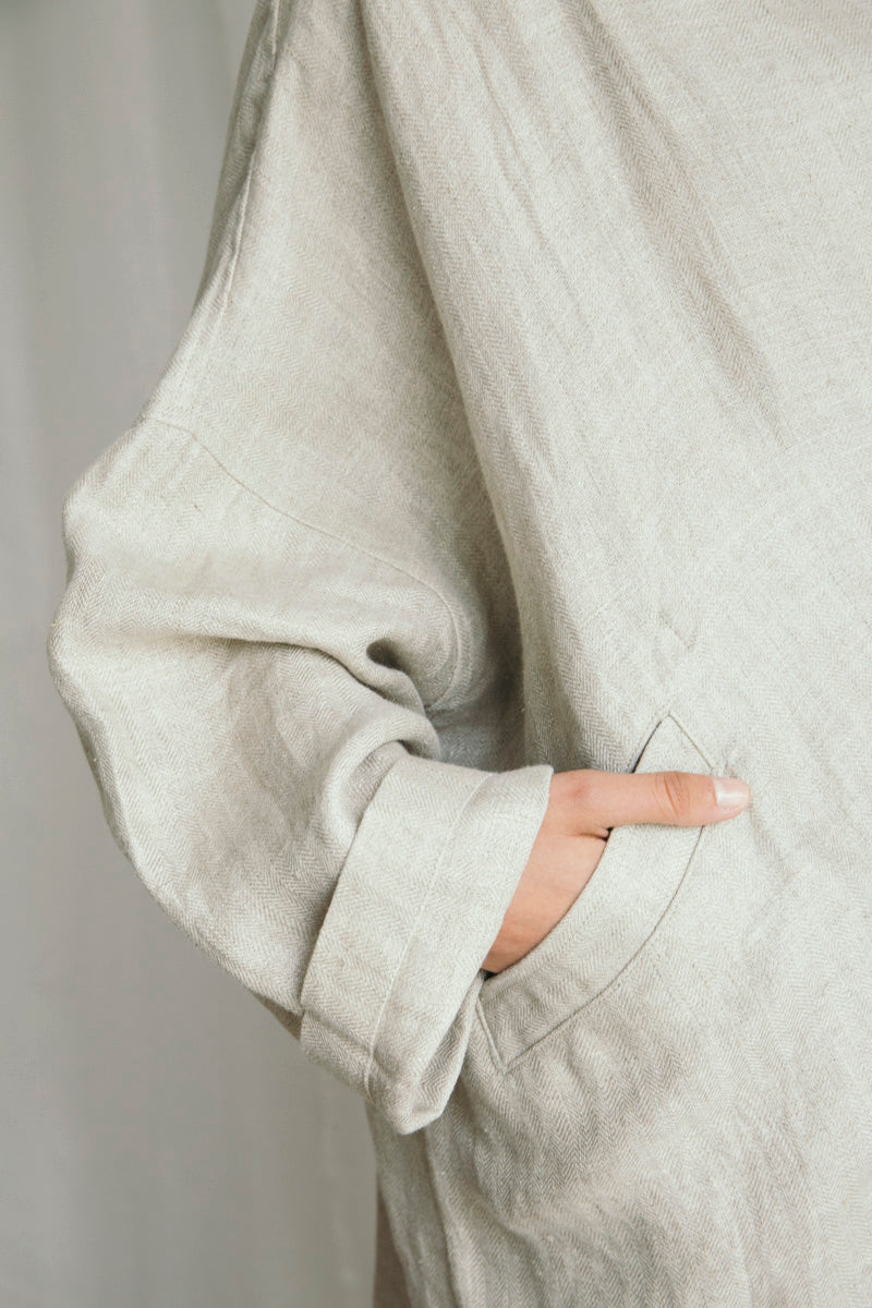 Herringbone Oversized Duster