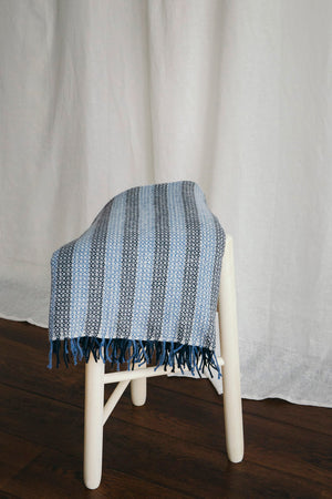 Recycled Wool Sky Blanket