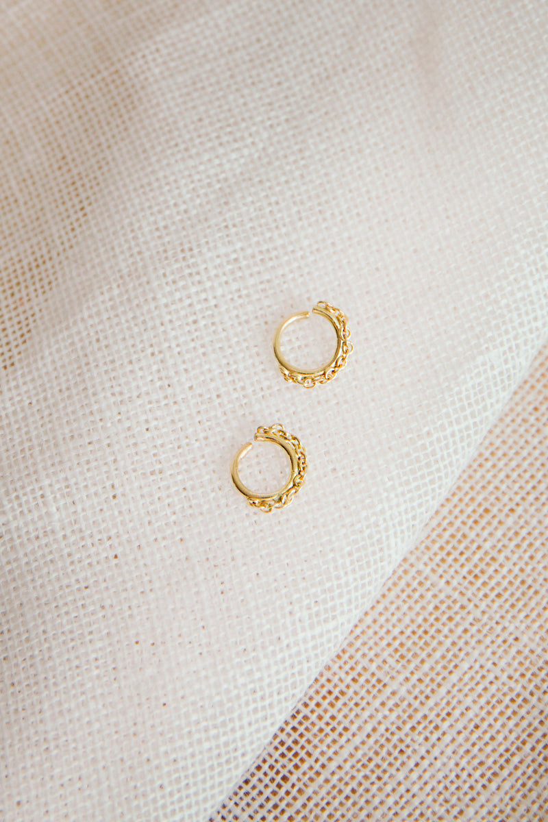 Mini Gold Chain Hoops