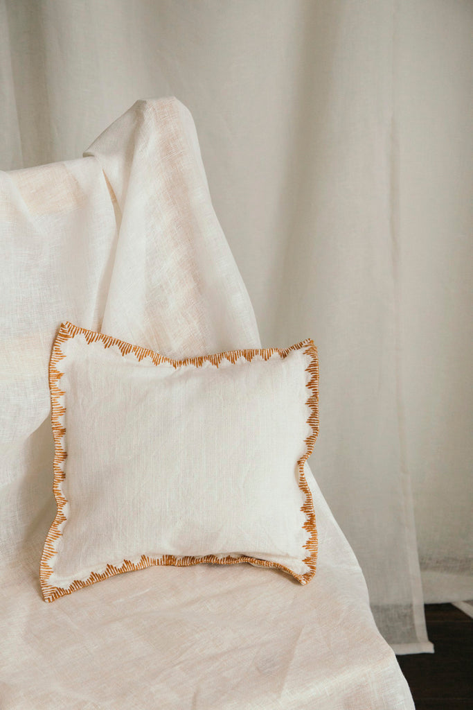 Khadi Ochre Small Cushion
