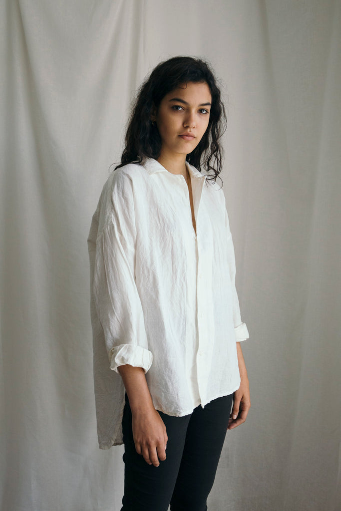 Cotton Linen Painter's Shirt