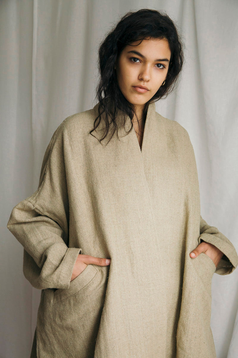 Linen Silk Oversized Duster