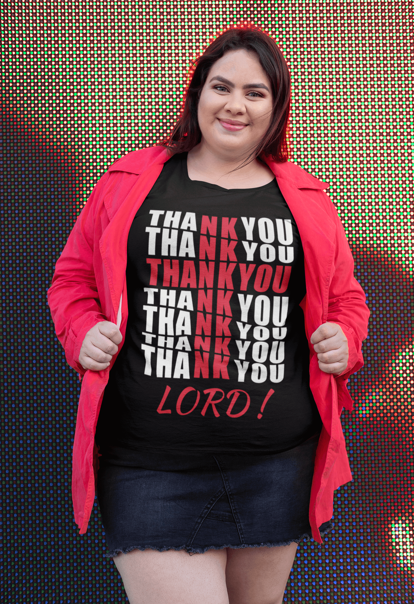 Thank You Lord! Prayer Tee - Black