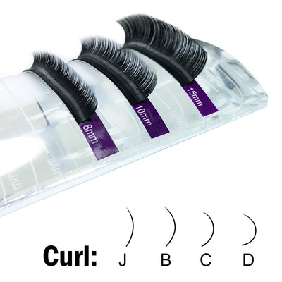 Faux lash individual eyelash extension