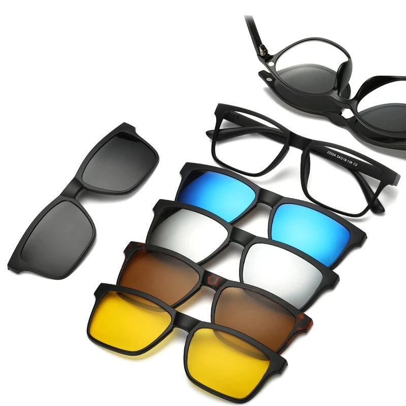 5 in 1 Magnetic Sunglasses - 33% Off Today!