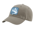 A driftwood Southern Strut original hat it has a square marlin embroidered patch.