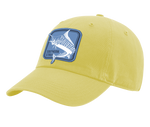 A yellow Southern Strut original hat it has a square marlin embroidered patch.